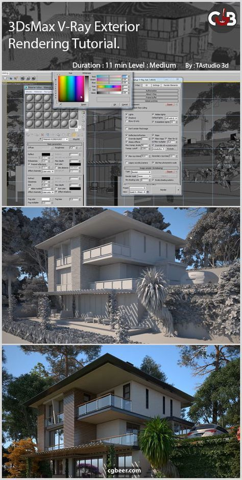 3ds max exterior modeling of a house tutorial