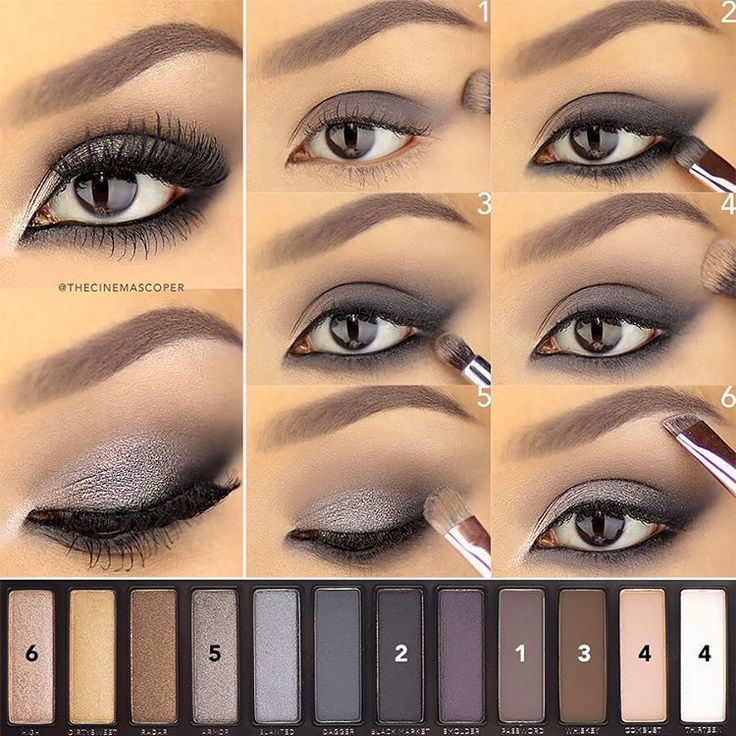 urban decay naked smoky palette naked eyes tutorial