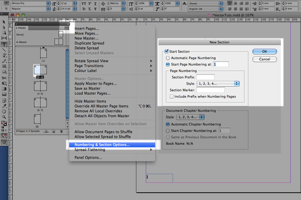 indesign master pages tutorial