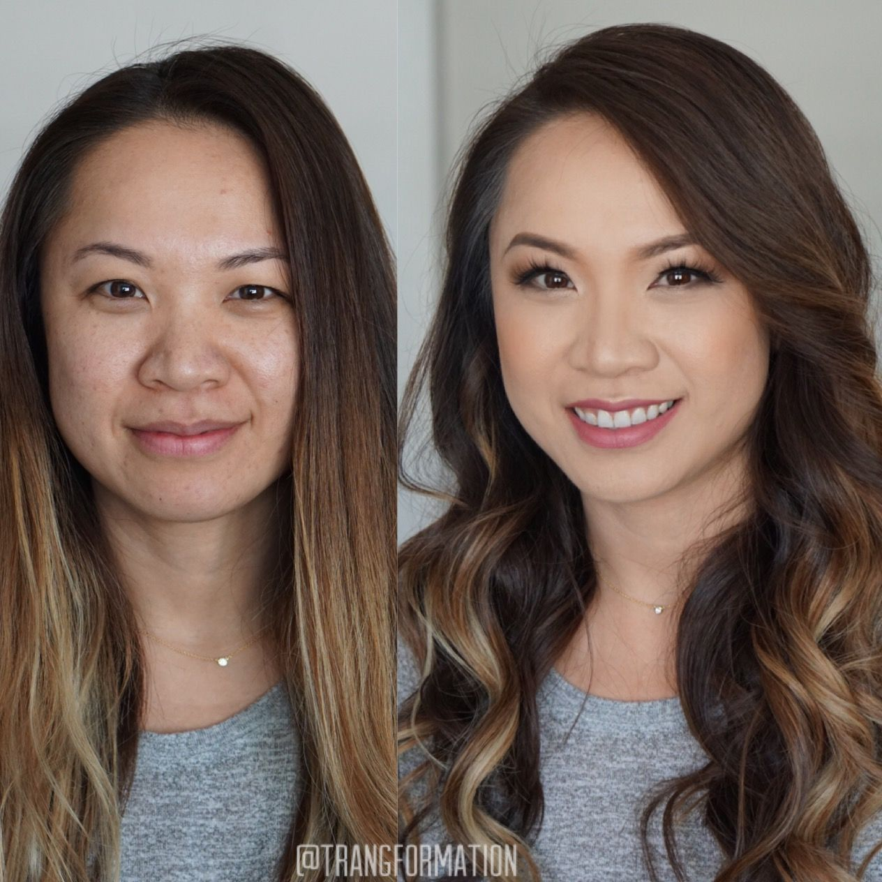 asian makeup before and after tutorial