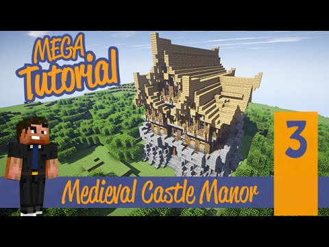 how to build a big castle in minecraft tutorial