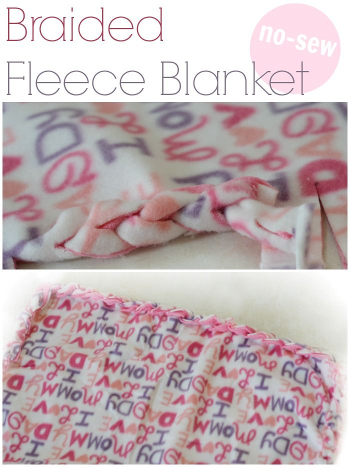 no sew blanket tutorial