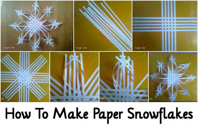 snowflake out of paper tutorial