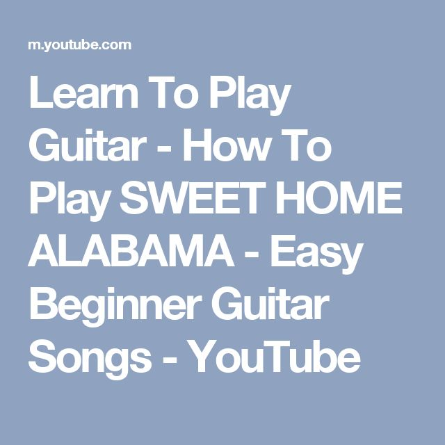 sweet home alabama guitar tutorial