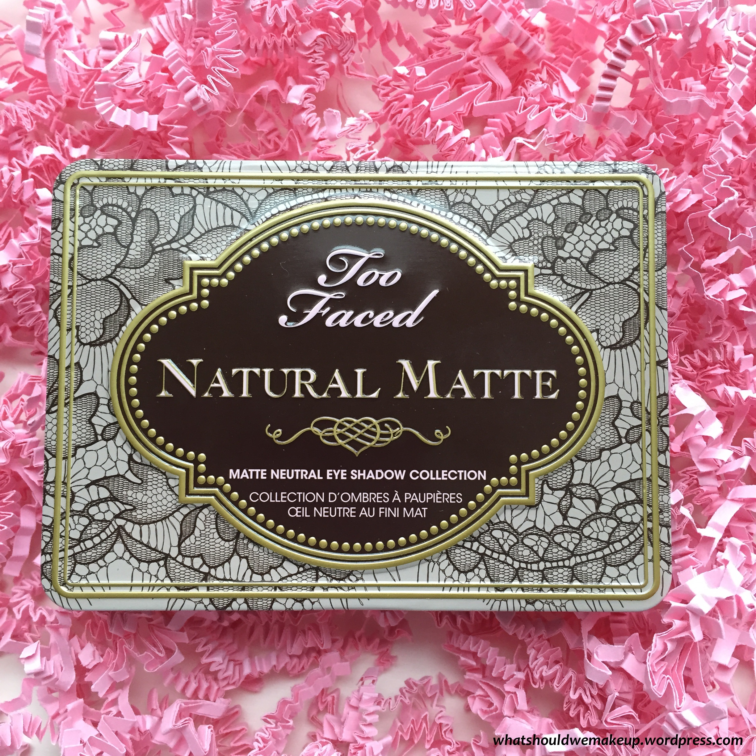 too faced natural eyeshadow tutorial